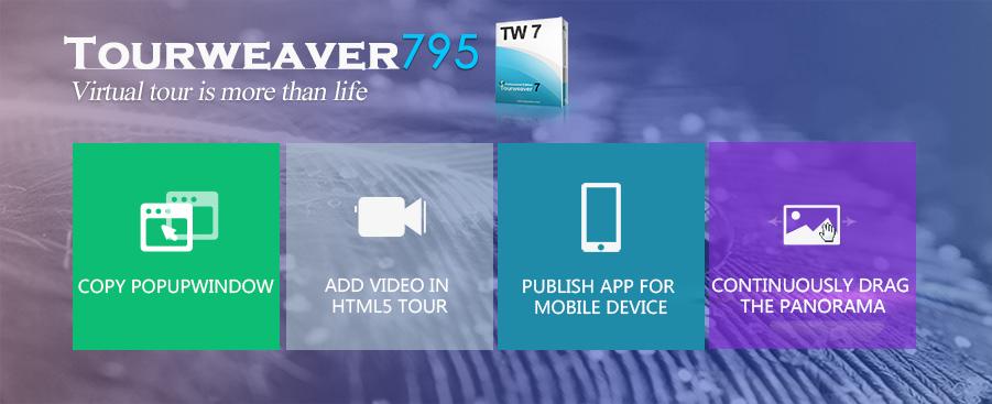 Publish Virtual Tour APP with Tourweaver 795!