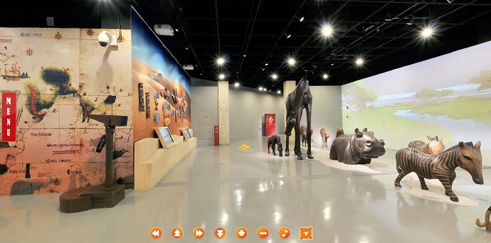 3d Exhibition Hall : D panoramic presentation of digital exhibition hall