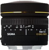 Sigma 8mm fisheye lens