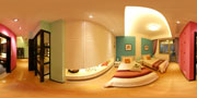 Click to see the Flash panorama demo bedroom.