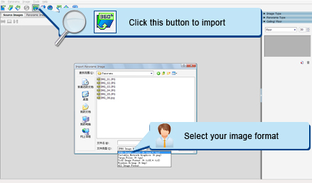 Import Your Panoramic Image