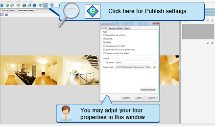 Publish Panorama to Flash/HTML5