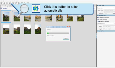 On Click for Auto Stitch