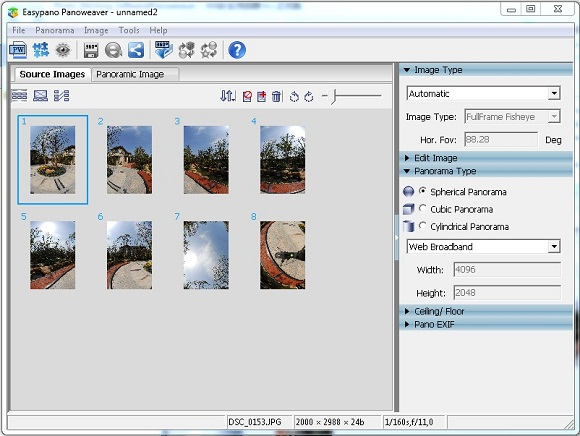 professional and easy-to-use Photo Stitching Software Panoweaver at www.easypano.com